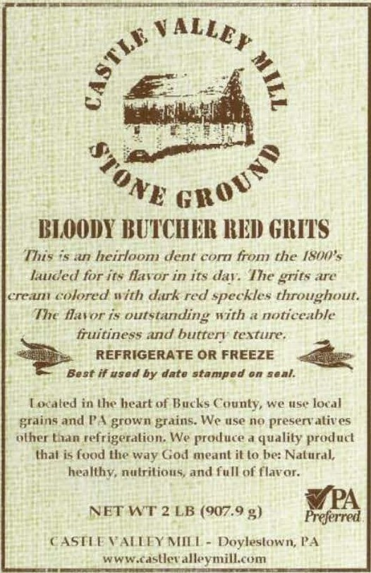 Castle Valley Mill Bloody Butcher Red Grits Locavore