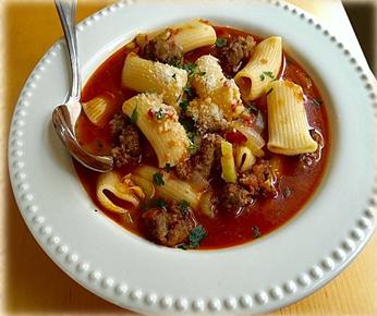 rigatoni sausage soup locavore at your door
