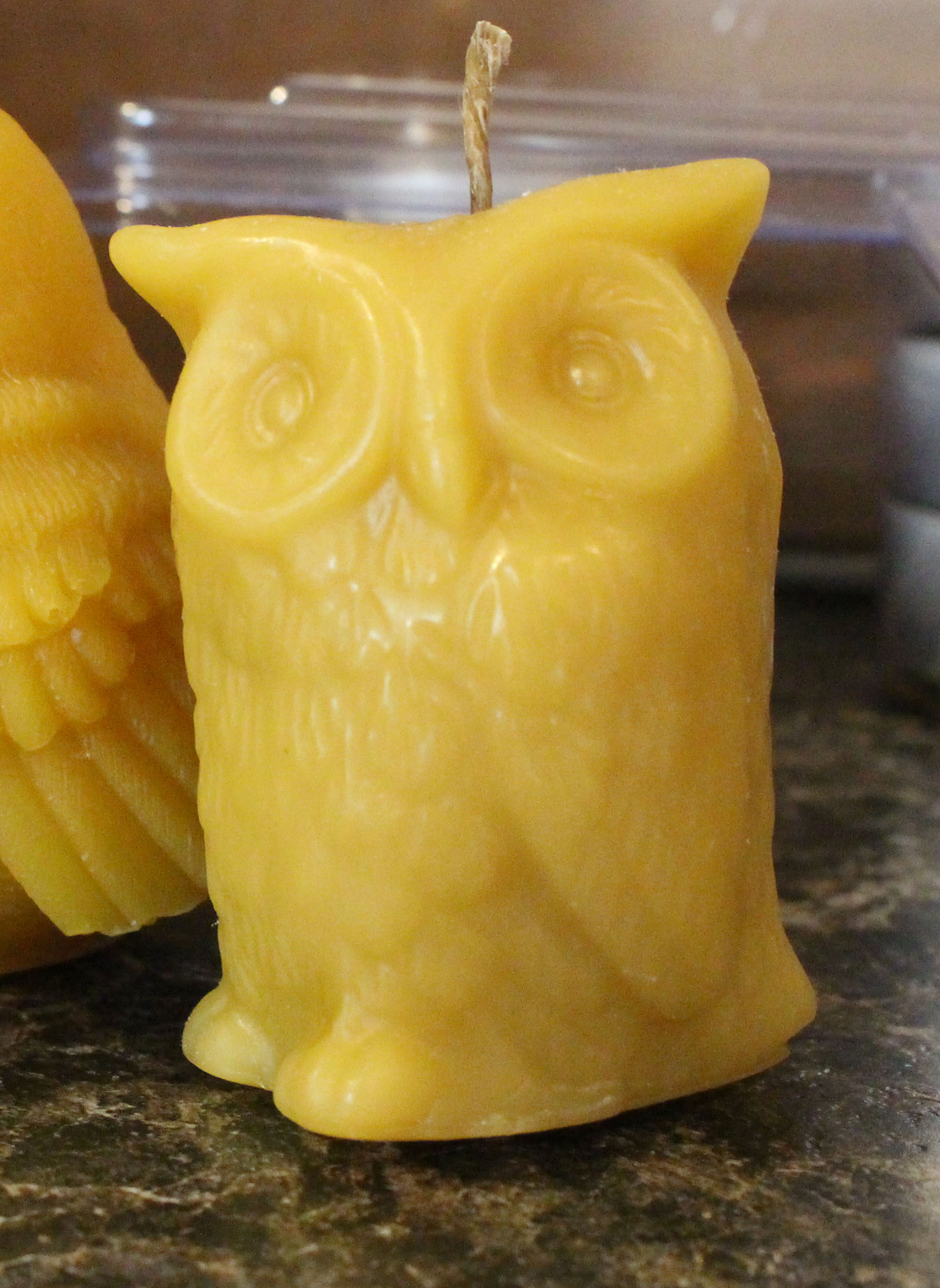 Simply Clean Simply Green Bird Shaped Beeswax Candles
